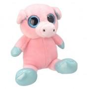 Merkloos Pluche varken knuffel 18 cm roze