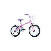 Bicicleta Infantil Track Bikes Pinky, Aro 16, Rodinhas Laterais, Rosa