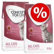 Lot Concept for Life pour chat - Sensitive Cats (2 x 10 kg)