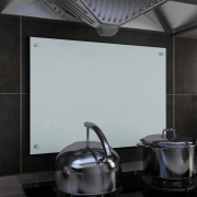 vidaXL Painel anti-salpicos de cozinha branco 70x50 cm vidro temperado