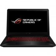 Notebook FX504GE 15.6' 'FHD i7-8750H 8GB 1TB+256GB GTX1050Ti 4GB Free DOS Black