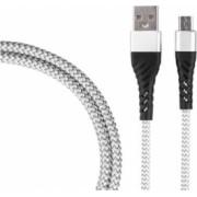 Cablu de incarcare/transfer date USB la USB-C / Type-C lungime 1M ranforsat Argintiu SHO1388