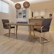 vidaXL Jedálenské stoličky z umelej kože, 2 ks, hnedé
