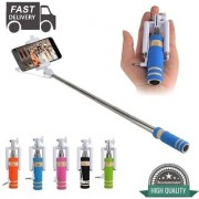Selfie Stick mini with Aux cable for all iPhone Android