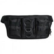 Bolso tactico al aire libre Oxford de la cintura del bolso de Oxford para el funcionamiento - negro (0.5L)
