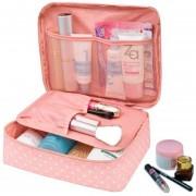 Maleta Bolsa Cosmetiquera Organizadora De Viaje Rosa