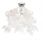 Trio Leuchten Nowoczesny plafon chrom z białymi liśćmi 50cm - Feder