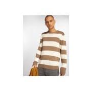 Urban Classics / trui Striped in beige - Heren - Beige - Grootte: Small