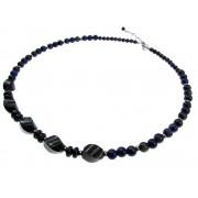 Colier din pietre naturale lapis lazuli cu inox
