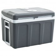 vidaXL Преносима термоелектрическа хладилна кутия 45 л 12 V 230 V A++