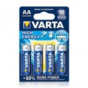 Baterii alcaline VARTA High Energy LR6/AA, 4 buc/set