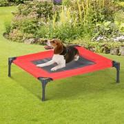 PawHut Cama para Mascotas Tela Gris 76x61x18cm