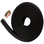 Kuhu CreationsPremium Kid's Safety Furniture Glass Edge Cushion Protector 2 meter Corner Bar Strips(1 Pcs Black)