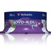 DVD+R Verbatim Dual Layer 240мин./8.5Gb 8X (Printable) - 25 бр. в шпиндел
