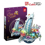 Puzzle 3D cu LED Cityscape New York, 58 piese