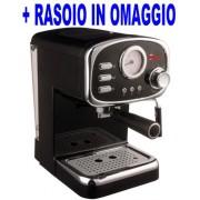 Macchina per Caffe Espresso e Cappuccino caffe in polvere e Cialde di carta con Indicatore di Temperatura e 3 filtri Cremilda