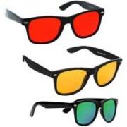 Elgator Wayfarer Sunglasses(Red, Yellow, Green)
