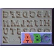 Mulaj Silicon Alfabet cu Umbre, h 2.1 cm