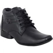 Shoebook Men's Black Leather Boots