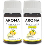 Aroma Seacrets Lemon Pure Aromatherapy Essential Oil Refreshing fragrance (30ml) - Pack of 2