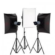 Kit blitz de Studio Falcon Eyes TFK-3600L cu dispaly LCD