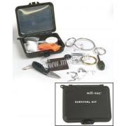 Zestaw survivalowy - piła drut, krzesiwo, gwizdek, kompas, nóż Mil-Tec