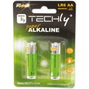 Techly Blister 2 Batterie High Power AA Stilo Alcaline LR06 1,5V