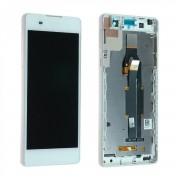 Ecran Complet Lcd + Chassis Pour Sony Xperia E5 F3311 Blanc