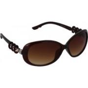 Pede Milan Oval Sunglasses(Brown)