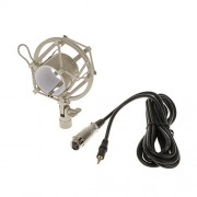 ELECTROPRIME Condenser Microphone Mic for Studio Recording with Shock Mount Pop Filter