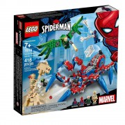 Lego set de construcción lego super héroes araña reptadora de spider-man 76114