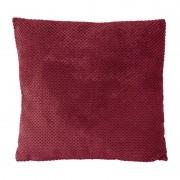 Xenos Kussen blokje - rood - 60x60 cm