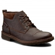 Обувки CLARKS - Lawes Top 261200137 Brown WLined Lea