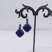 Cercei cu lapis lazuli si malahit