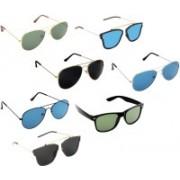 Pogo Fashion Club Wayfarer, Aviator, Retro Square Sunglasses(Multicolor)