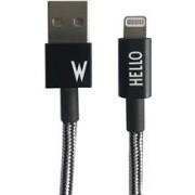 Design Letters Micro USB Cable 1 M Black W