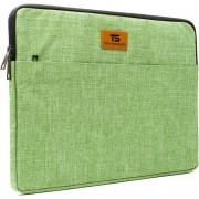 """Tech Supplies - MTS15B Premium Selection Soft Sleeve Voor de Apple Macbook Air / Pro (Retina) 15 Inch - 15.6"""" Case - Fluweel zacht van binnen Bescherming Cover Hoes - Ook geschikt voor alternatieve laptop merken - Groen"""