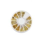 ELECTROPRIME® Gold 3D Nail Art Gold Silver Alloy DIY Sticker Design Wheel Nail Art Stickers Tips Manicure DIY Decoration