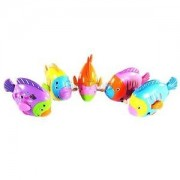 Alcoa Prime Mini Rainbow Coloured Swing Fish Model Wind Up Toy Kids Playing Fun Toy Gift
