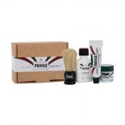 PRORASO Shave Travel Kit After Shave Balsam Green 25 ml + Before Shave Creme Green 15 ml + After Shave Creme Green 10 ml + Rasierpinsel für Männer