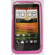 Силиконов гръб ТПУ за HTC Desire VT T328t Розов