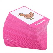 Phenovo Various Flash Cards Set - Educational Learning Picture & Word Card Flashcards - Animal, 13.5x9.2cm