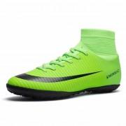 Hoge top antislip Wearable en comfortabele voetbalschoenen Soccer cleats voor mannen schoenmaat: 5 (TF Green)