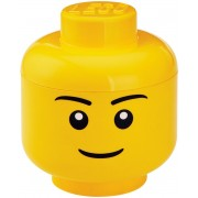 Lego Opbergbox - Head S - Boy - Geel
