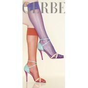 Gerbe - Sheer mat knee highs without lycra Voile Gerlon 15 DEN