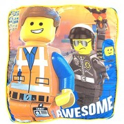 """The LEGO Movie Large Pillow with """"Awesome"""" Emmett and Bad Cop 16"""" x 16"""" x 5"""""""