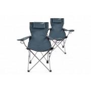 kemping szett 2db össze- csukható szék DIVERO kék