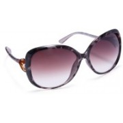 Stacle Over-sized Sunglasses(Brown)