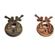 Indigo Creatives Vastu Antique look Lord Ganesha + Goddess Lakshmi set of 2 Safety Lock Safety Lock(Black)