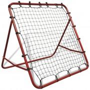vidaXL Nastaviteľná futbalová bránka s odrazovou sieťou, 100 x 100 cm